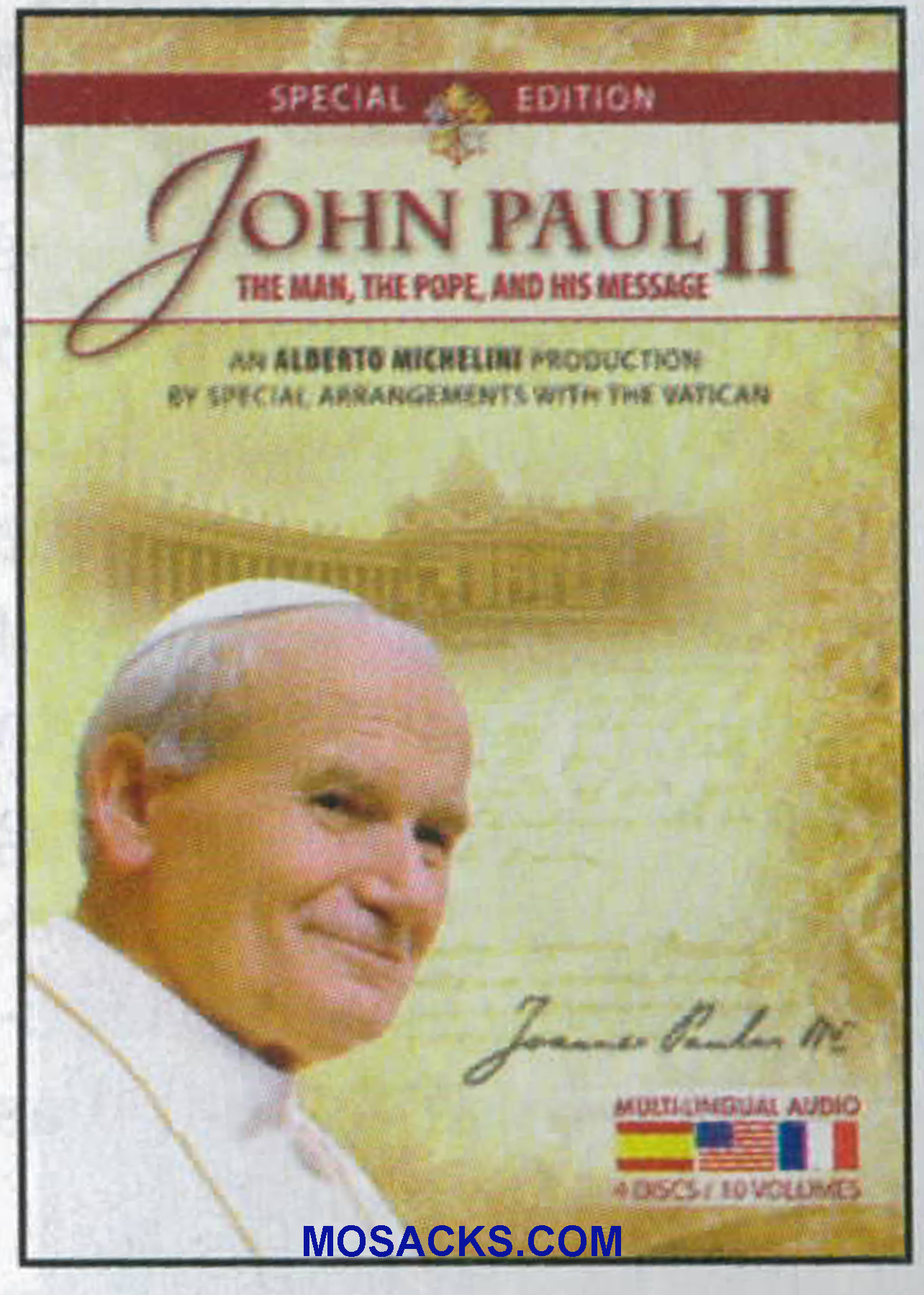 DVD-John Paul II The Man The Pope And His Message 4 DVD Set-JPMP-M