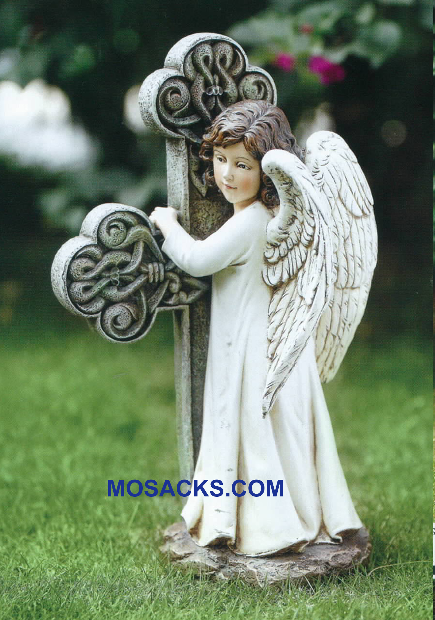 Joseph's Studio Angel Cross Celtic Garden Statue 20-65978