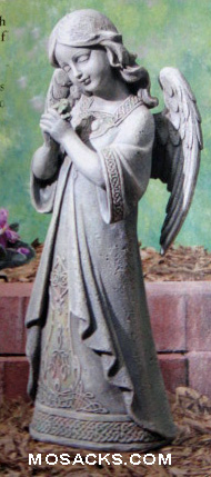 Joseph's Studio Garden Figures Celtic Praying Angel w/Shamrock #62662