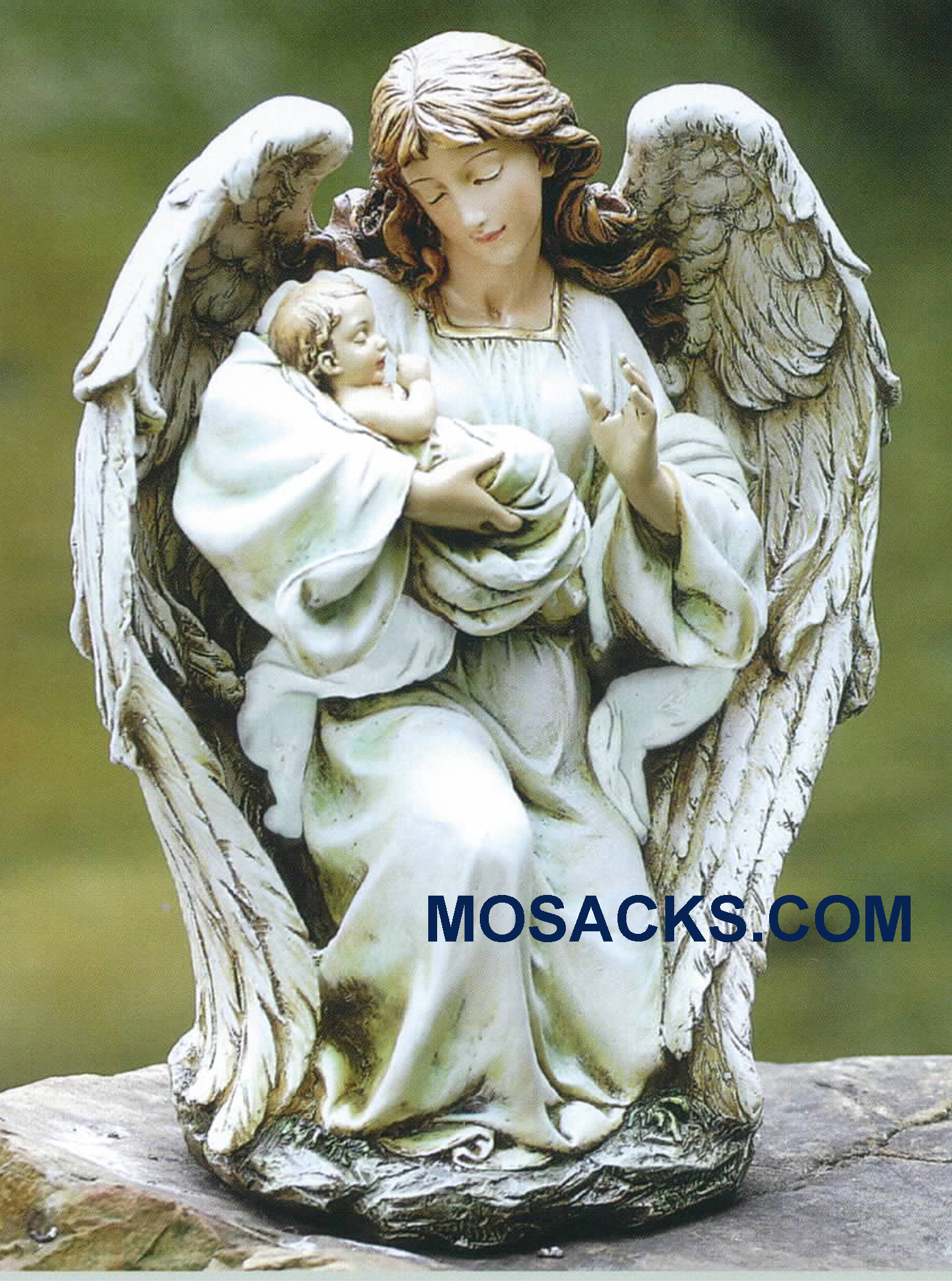 Joseph Studio Angel with Baby Statue 63650