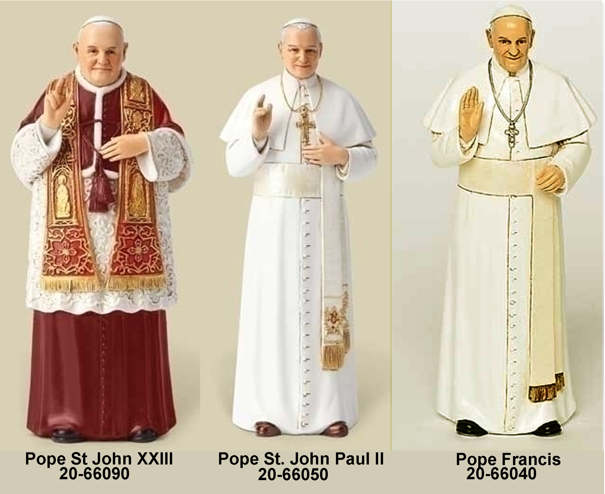 Pope Statues
