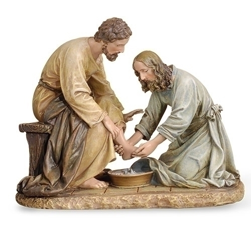 Jesus Washing of the Feet Joseph's Studio Statue #45615