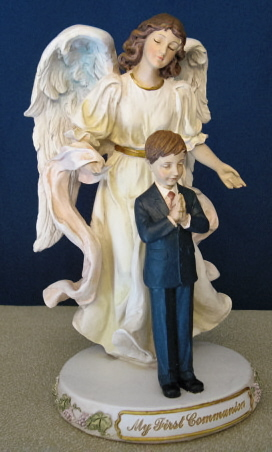 Joseph's Studio My First Communion Angel/Boy Figurine #47743 by Roman Inc