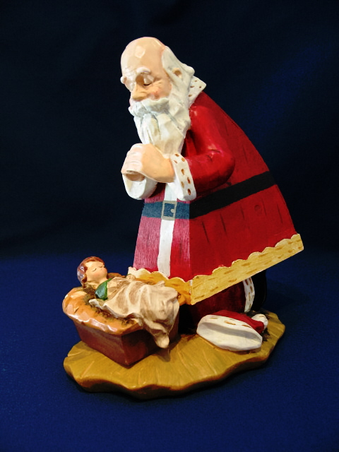 Joseph's Studio Kneeling Santa-Musical #48590 RETIRED