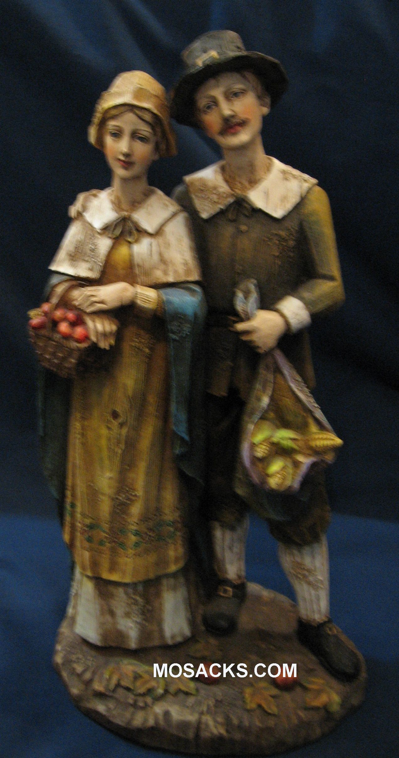 "Joseph's Studio Pilgrim Couple 10.50"" H 26773 RETIRED"