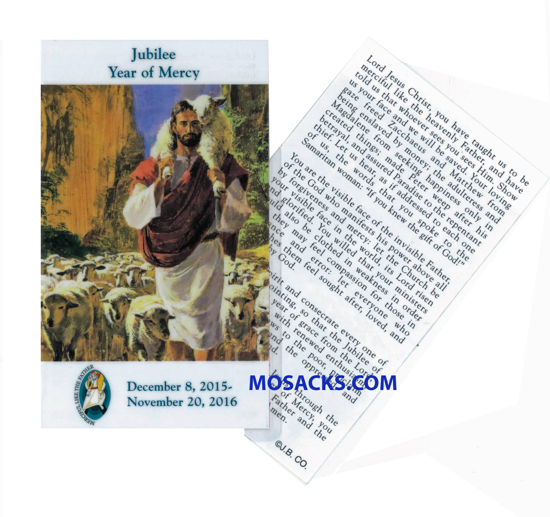 Jubilee Year of Mercy Paper Holy Card 2-4030P