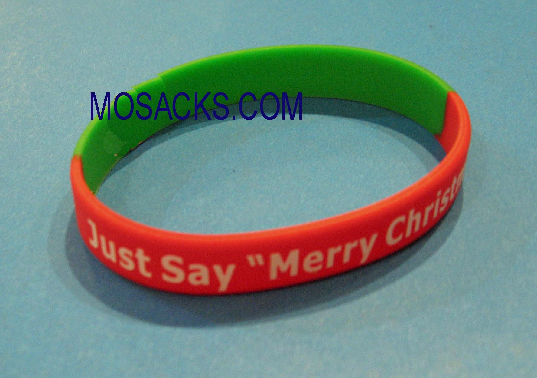 "Just Say ""Merry Christmas"" Bracelet Wrist Band"
