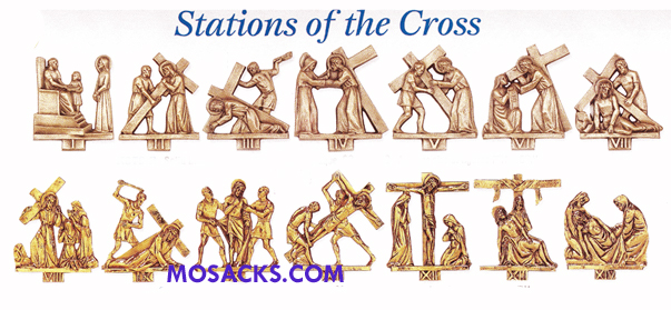 K379-G 24K Gold 14 Stations Of The Cross