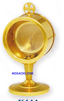 "Chapel Monstrance 7-1/2"" High holds 2-3/4"" Host K444"