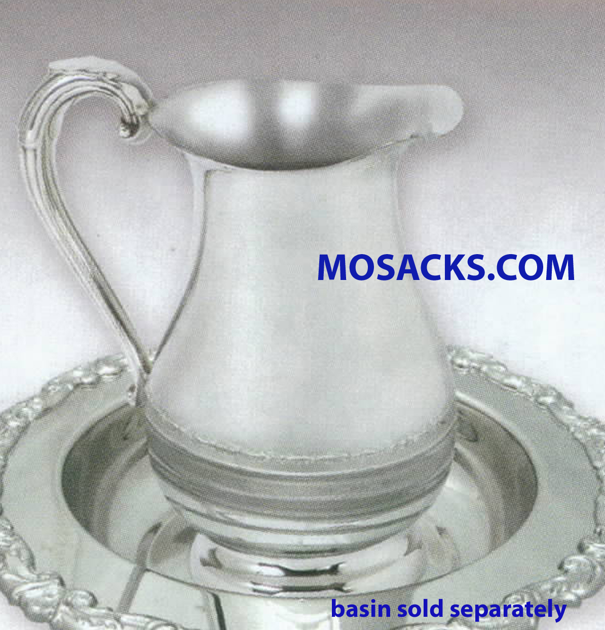 K Brand 8.5 Inch Bright Pewter Ewer -K76 Without Lid