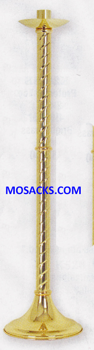 "KBrand Ecclesiastical Brass Paschal Candle Holder 42"" H 10.5"" base K1135"