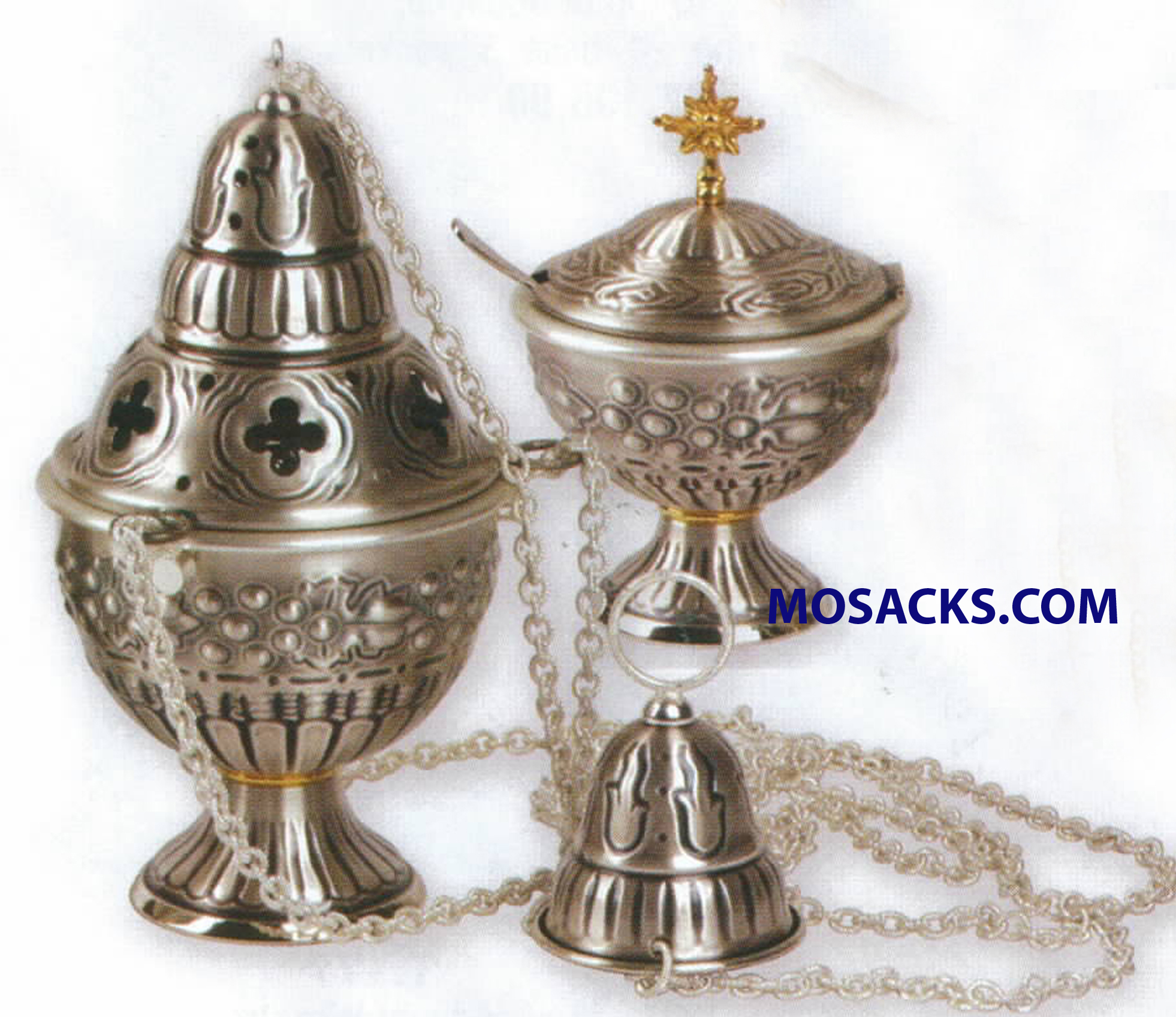 K Brand Censer And Boat Oxidized Silver 9 Inch-K911