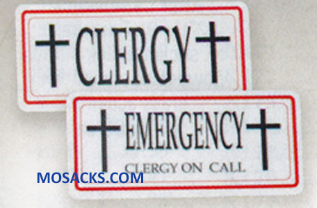 K Brand Clergy & Clergy Emergency Sign K3301