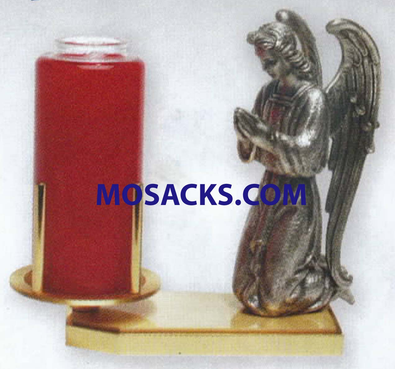 K Brand Devotional Candle Holder With Angel 8 Inch-K202