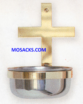 K Brand Holy Water Font in Stainless Steel 14-K249-WOOD