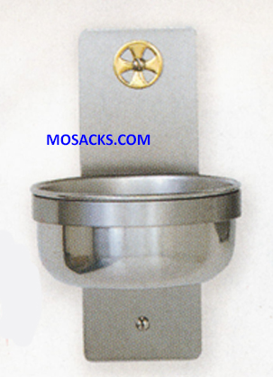 K Brand Holy Water Font in Stainless Steel 14-K349-B