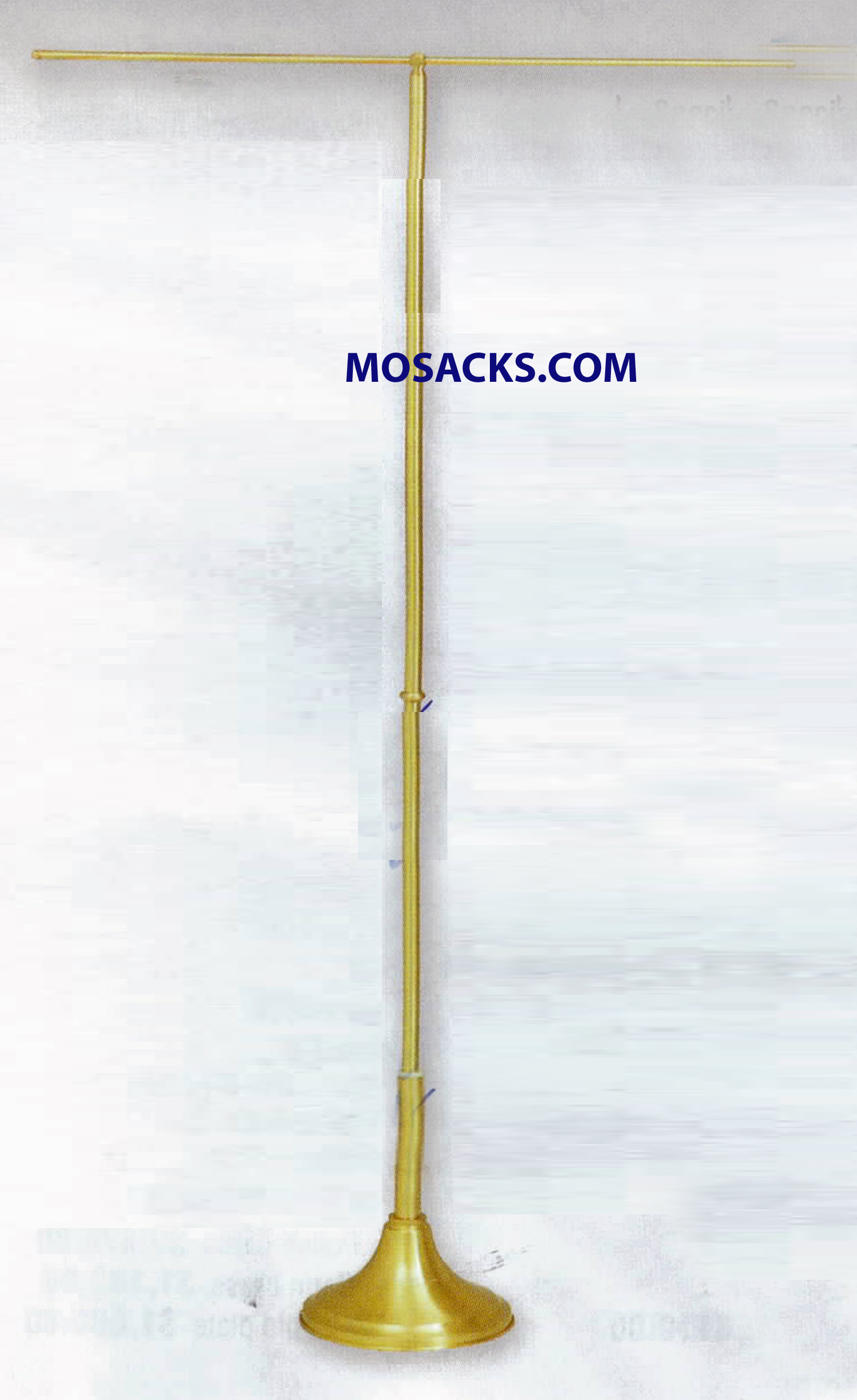 "K Brand Processional Banner Stand S Brass Telescoping Shaft 51""-90"" -K173B"