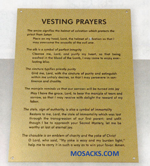 K Brand Vesting Prayers Plaque K5