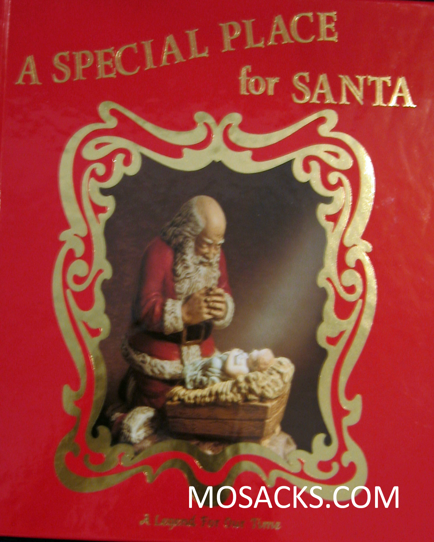 "Kneeling Santa ""A Special Place for Santa"" Children's Book #10028"