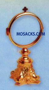 "Chapel Monstrance Gold Plated - 2.75"" Luna, 6.75"" High, 3"" Base K981"