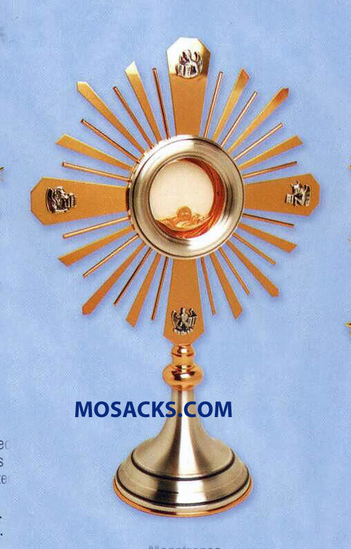"Monstrance Gold and Silver Plated - 18.5"" High, 6"" Base. K984"