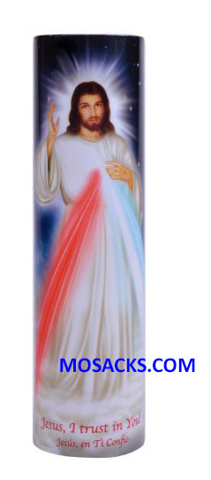 Divine Mercy LED Candle C-8001