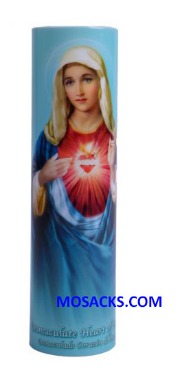 Immaculate Heart of Mary LED Candle C-8005