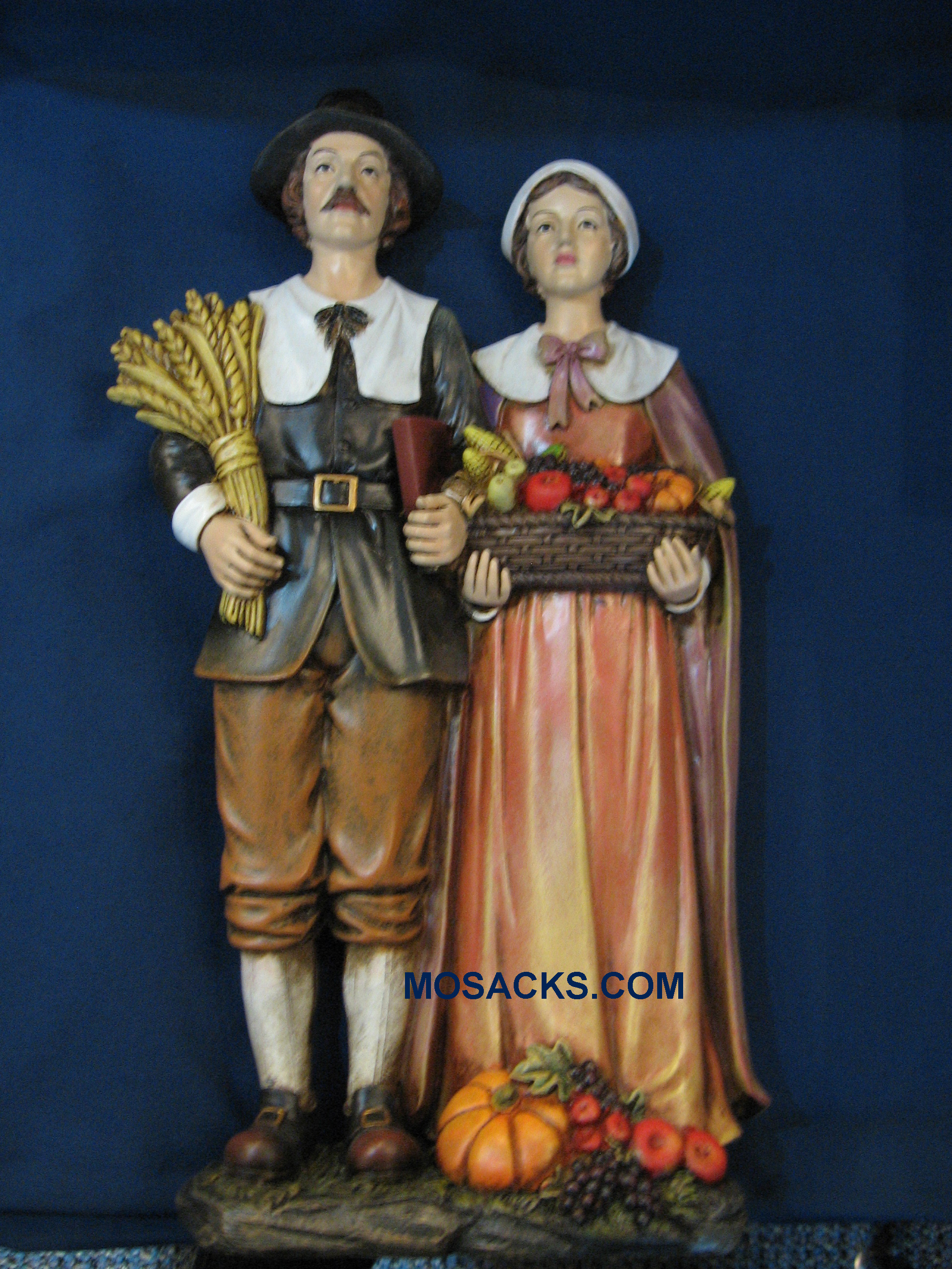 "Large Pilgrim Couple 13 1/2"" H 33521"