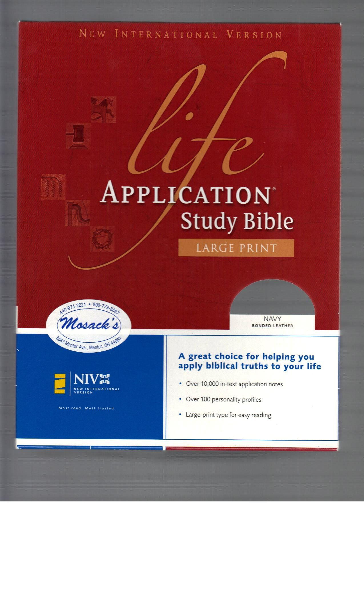 NIV Life Application Study Bible Large Print 108-9780310917588