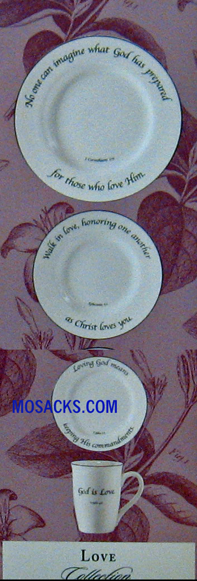 "Feed on the Word ""Love"" Scripture Tableware 4-Piece Place Setting #5-150-P"