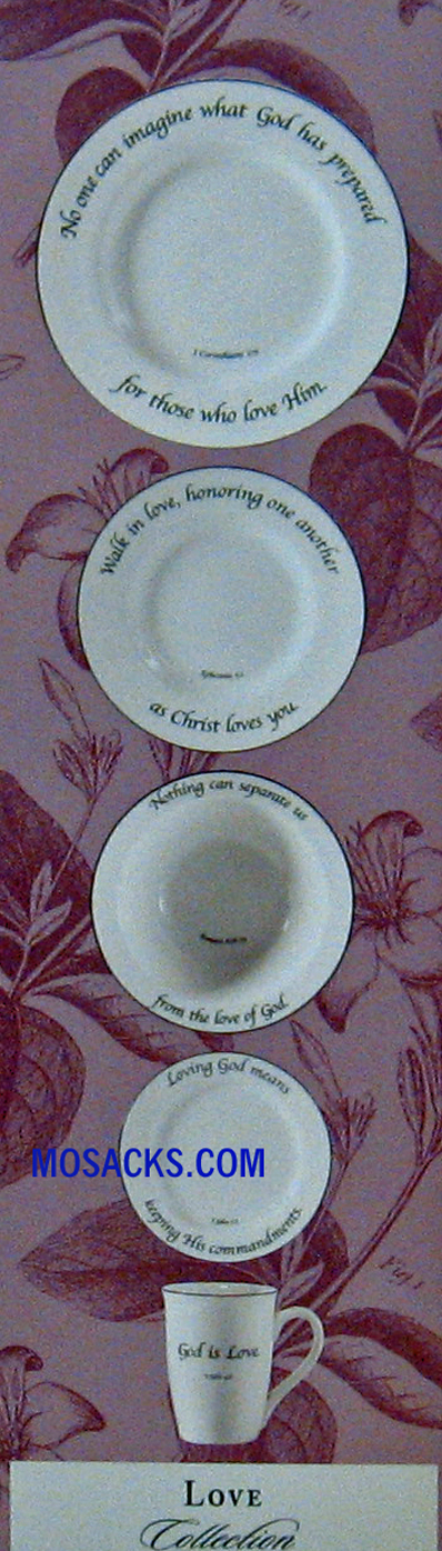 "Feed on the Word ""Love"" Scripture Tableware 5-Piece Place Setting #5-150"