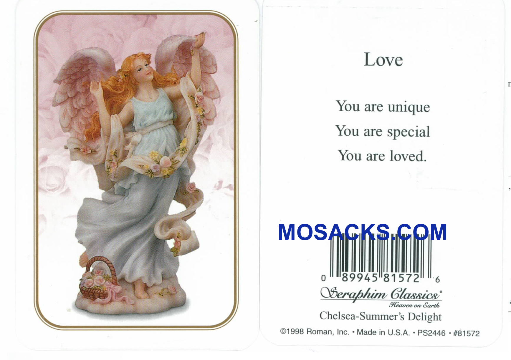 Love Seraphim Angel Holy Card-81572