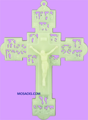 "Luminous 9"" Stations of the Cross Plastic Crucifix 185-1718AL"
