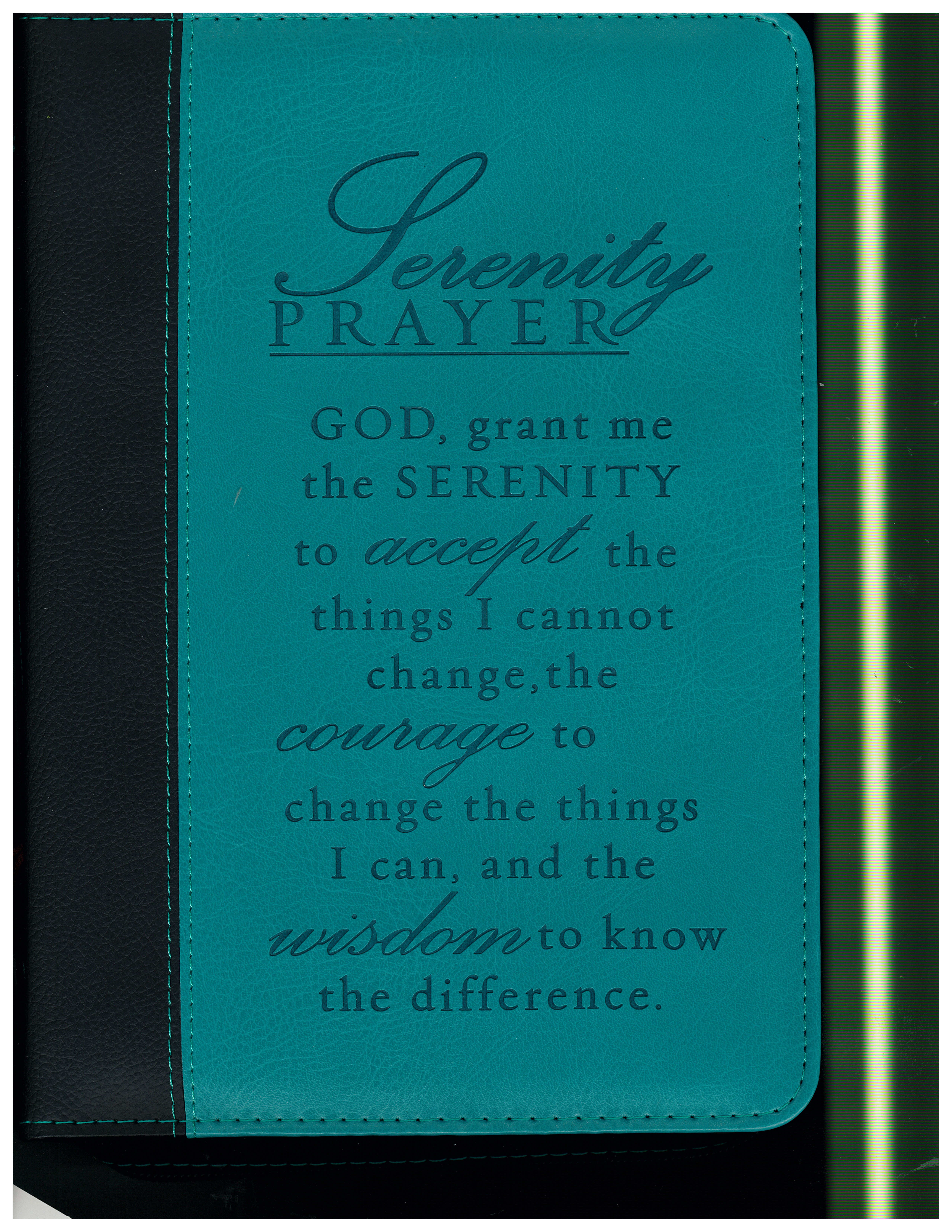 Lux Leather Serenity Prayer Bible Cover 6006937079373