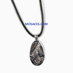 My Saint My Hero Angel Wing Protection Silver Necklace-NK00042-S