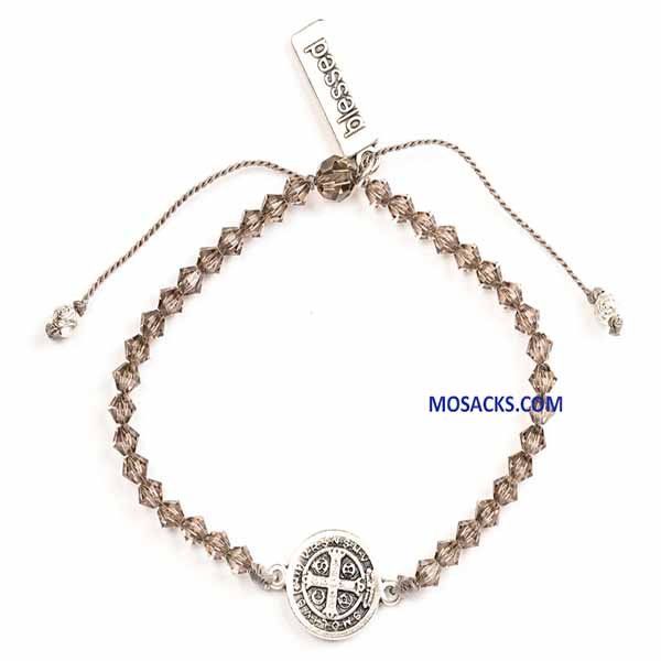 My Saint My Hero Arise Shine Crystal Bracelet Silver BR00059-S-GRE