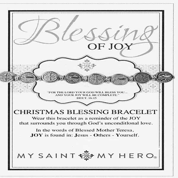 My Saint My Hero Christmas Blessing Of Joy Silver Bracelet 10010MS