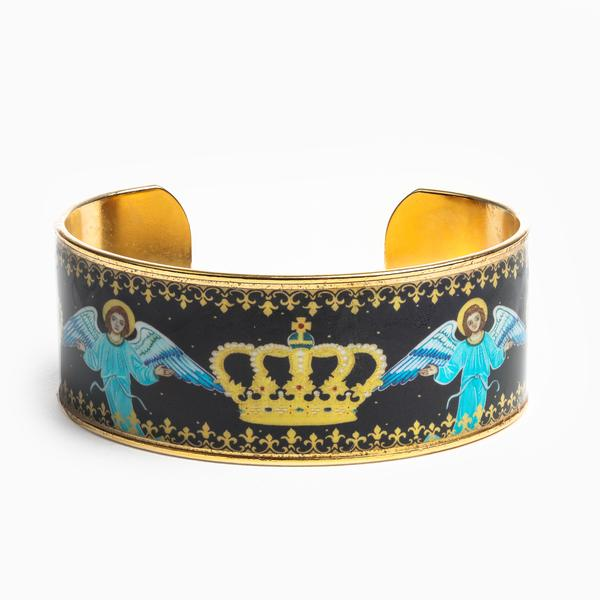 My Saint My Hero Crown of Glory Cuff Bracelet BR00100