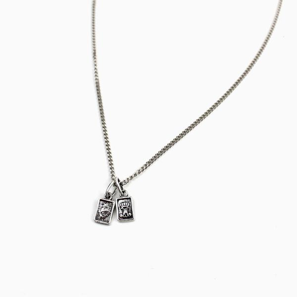 My Saint My Hero Garment of Grace Petite Scapular Necklace Sterling Silver 34113SS