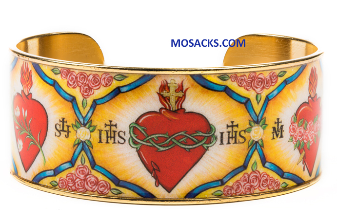 My Saint My Hero Holy Family Heart Of God Cuff Bracelet 32005GD