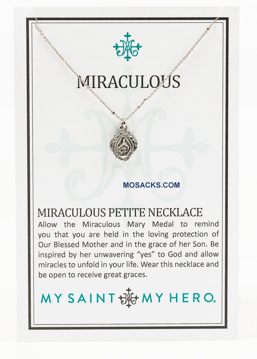 My Saint My Hero Miraculous Mary Petite Necklace-NK00054-S