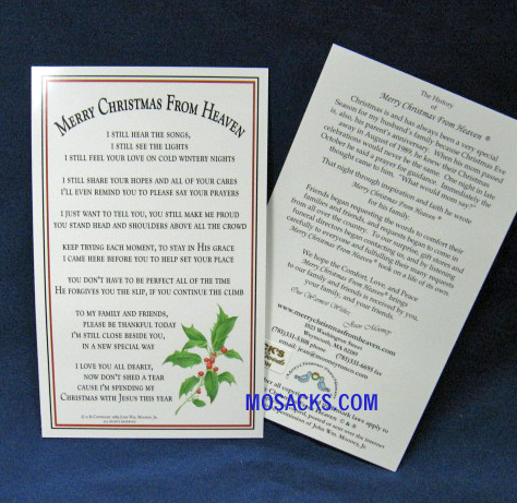 merry christmas from heaven bookmark pc