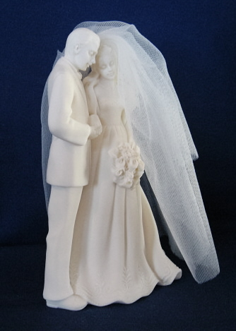 Millenium Collection Wedding Couple With Veil, 5 inch, 43753