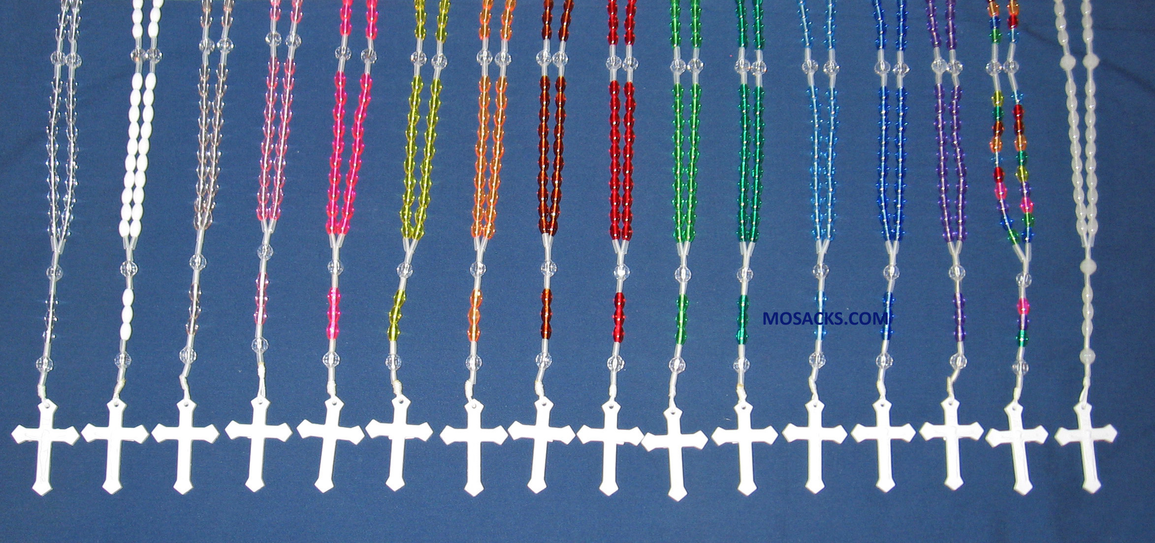 Rosaries with Plastic Beads colors vary