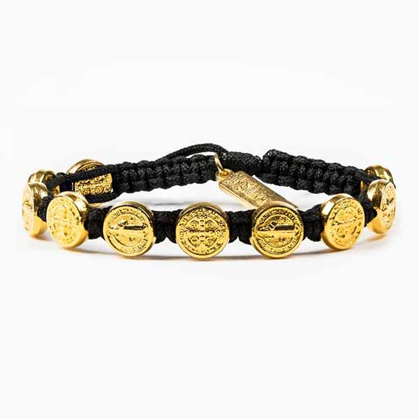 My Saint My Hero Benedictine Blessing Bracelet Gold-BBG Color Choices Here