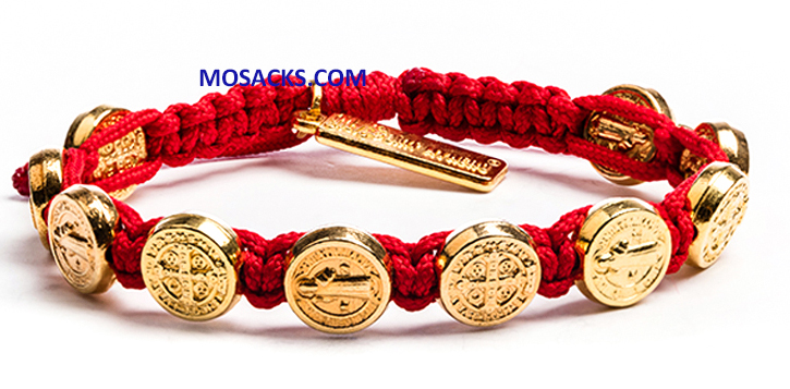 My Saint My Hero Confirmation Benedictine Bracelet Red-BB-CFG-106