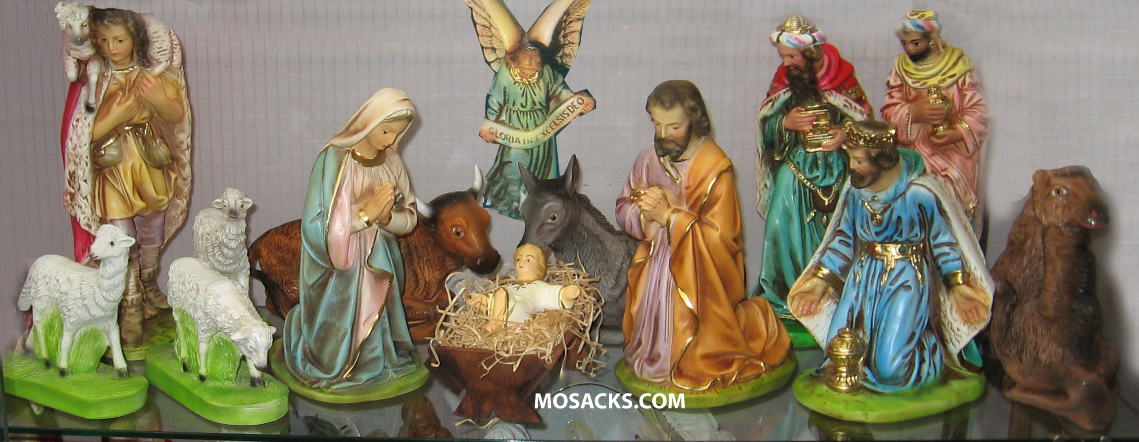 "Nativity Set 12"" Traditional Plaster 15 Piece Set 190-1215"