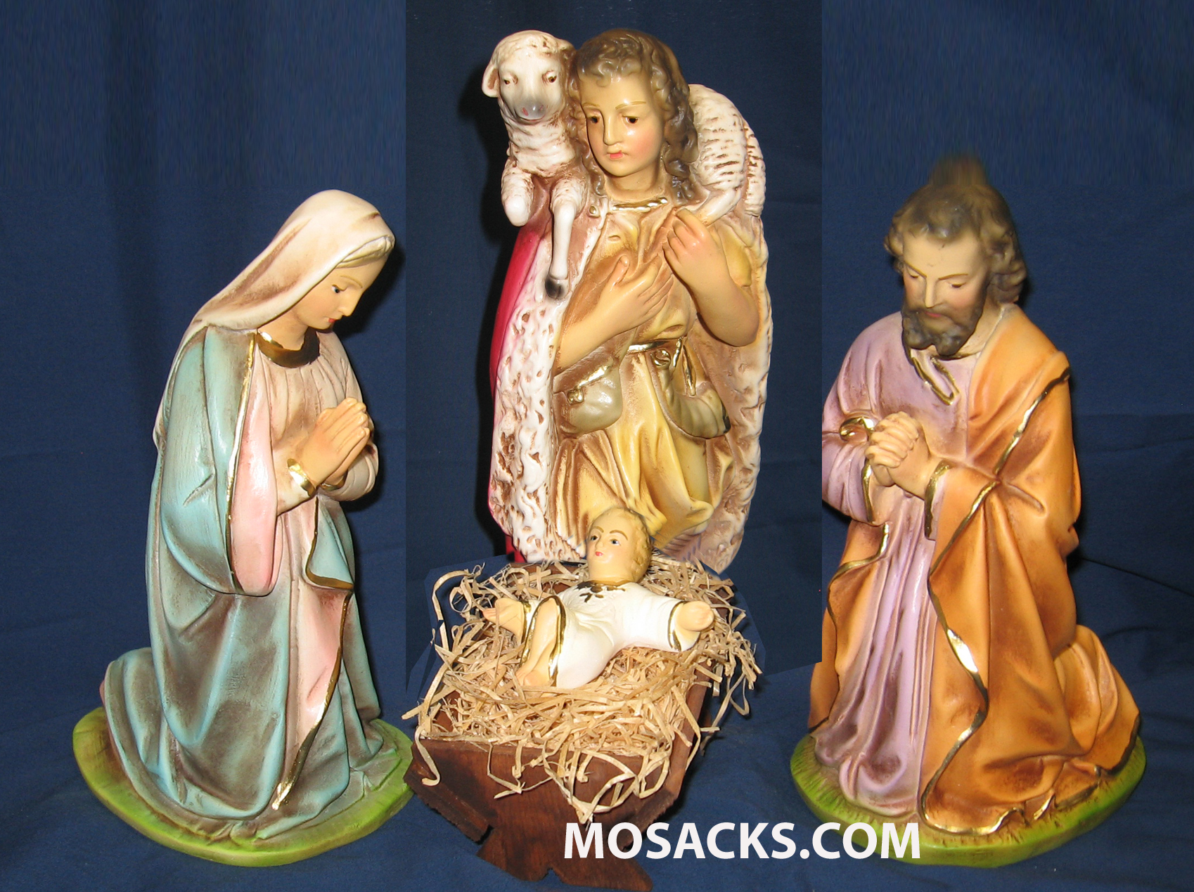 "Nativity Set 12"" Traditiional Plaster 5 Piece Set 190-125"