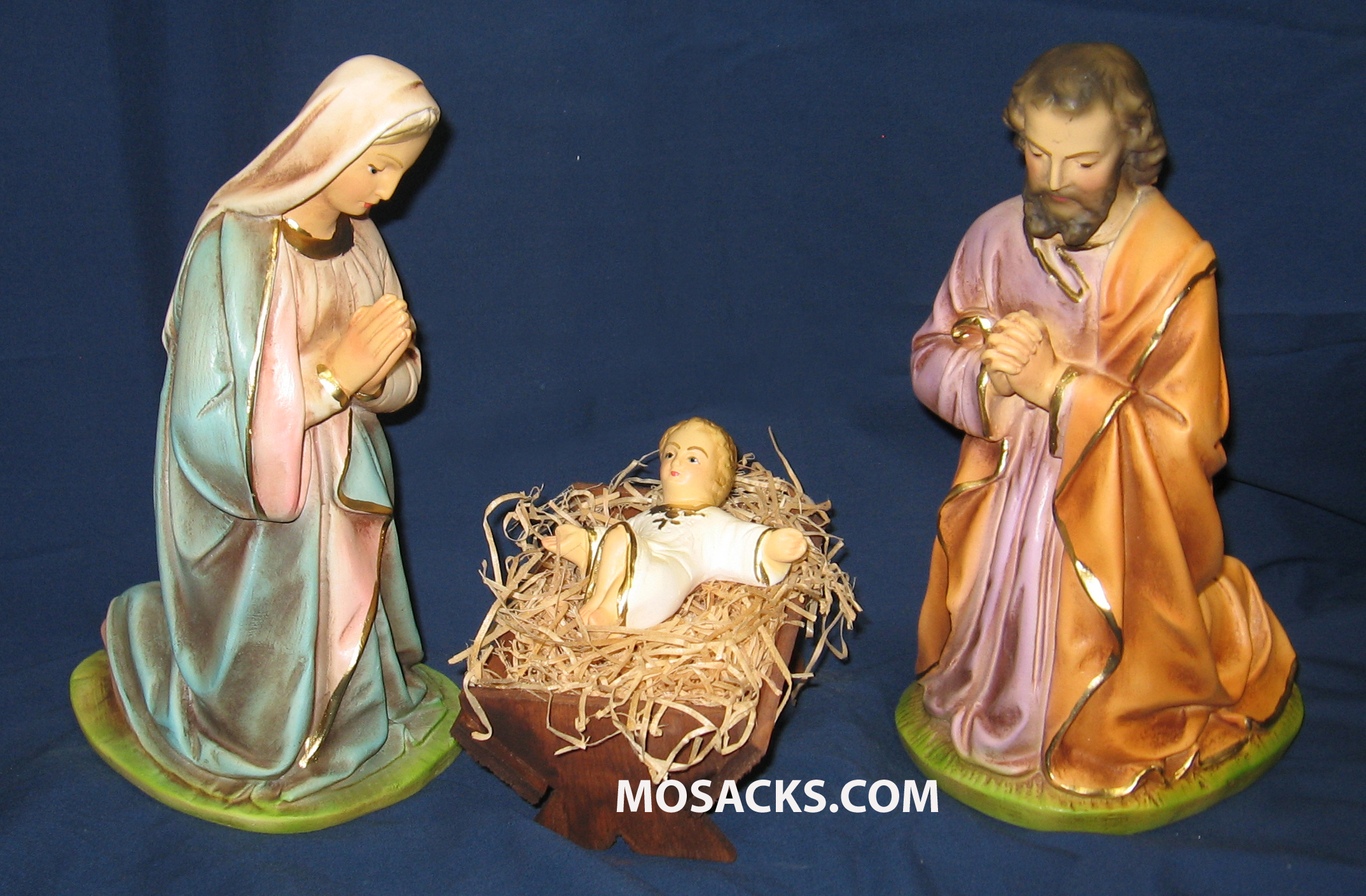"Nativity Set 12"" Traditional Plaster 4 Piece Set 190-124"