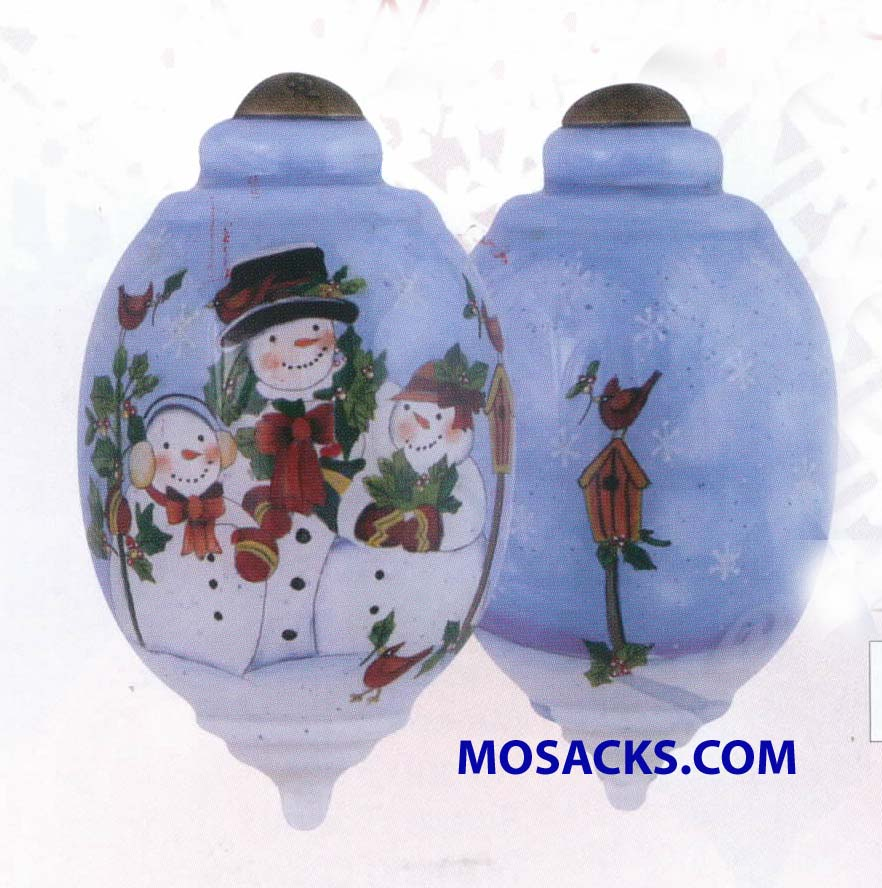 Ne'Qwa Art™ Hand-Painted Ornament Snow Family 466-7151155